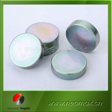 n52 disc neodymium magnet with color zinc