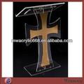 Púlpito de acrílico com cruz/plexiglass púlpito/púlpito lucite