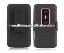 nueva funda caja del teléfono celular para htc evo 3d con clip giratorio para cinturón
