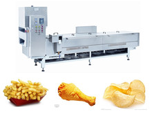 XYXZ-7 Industrial stainless steel food processing machine for food frying /countinuous potato chips deep fryer