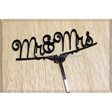 Mr & Mrs Acrylic Cake Topper Cheap Wholesale Wedding Accessory