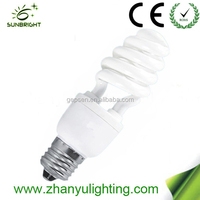 High efficiency 9mm half spiral bulb energy saving bulb 11w made in China