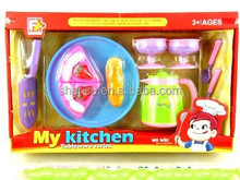 plastic afternoon tea cake toys kitchen set for kids
