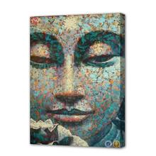 Wall art decor modern buddha face oil painting