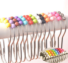 colorful mental shower curtain rings shower curtain hooks/ foot shape iron and stainless steel metal curtain rings