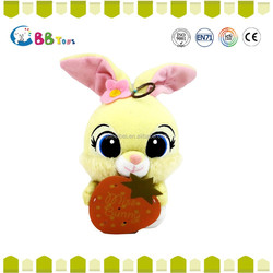 Promotional Fashion Hold strawberries cute bunny plush toys