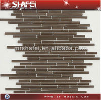 Bathroom Tile,Popular strip line glass mosaic,kitchen backsplash,interior wall,hotel and home