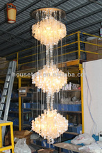 2015 large shell chandelier,hotel lobby large shell chandelier,modern large shell chandelier pendant lamp P1002