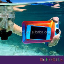 2015 Hot Selling PVC Mobile Phone waterproof case for cell phone With String