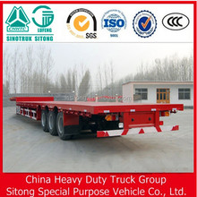 Heavy truck trailer 40FT container 3 axle flat bed trailer flatbed semi trailer