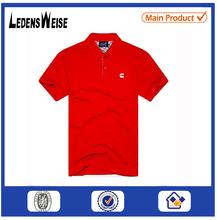2015 bulk red color pique men style stock polo shirt