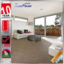 New design New Zealand standard aluminium panel tracks sliding glass doors