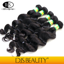 Without chemical processed natural color pure raw human hair weft