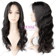Hot sales brazilian remy hair glueless full lace human hair wig with baby hair