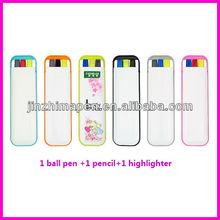 highlighter pen combo with ball pen, pencil & highlighter