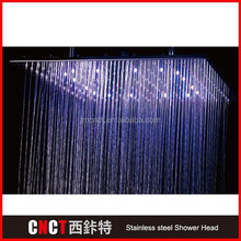"""12""""ultra-thin square mirror Surface 304 stainless steel LED aroma sense 9000 vitamin c shower head (as-9000)"""