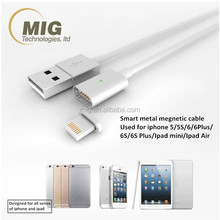 Super Strong Magnetic Aluminum Micro USB Wire Cable Charger For iPhone 5 5S 6 6S Plus With LED Indictor