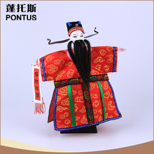 Wholesale red Chinese character wooden puppet unique gift