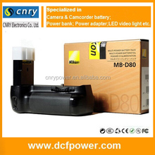 China Supplier Original Camera Battery grip MB-D80 for Nikon D80 D90 high quality
