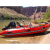 Inflatable speed boat with outboard motor for fishing