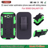 Stand and belt clip case for samsung s3 i9300 holster case for samsung galaxy s3 otao 3d edge to edge for samsung S6
