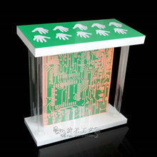 Palm starting desk with large size,opening ceremony supply,acrylic lectern