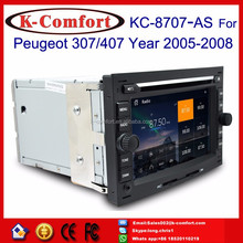 K-Comfort Factory good price high quality peugeot 407 multimedia with GPS + SWC + Radio + RDS BT+ SD + USB CD/DVD IPOD Aux-in