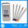 LT-Y981 plastic 5 color pen and pencil set, pencil case set, ball pen with highlighter