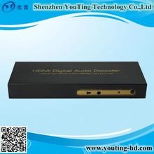 1080P HDMI VGA Digital Analog Audio Decoder with 6 channel RCA