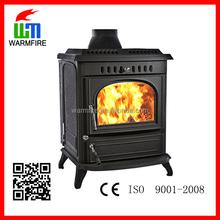 CE WM704B Modern European cast iron fireplace with back water boiler