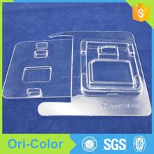 Custom clear pvc plastic memory card packaging boxes