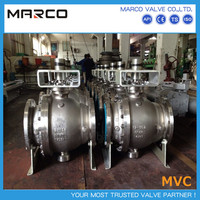 High performance reliable manual operated bevel and worm gear operated stainless steel ball valve