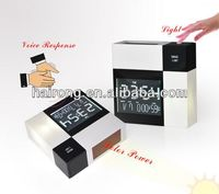 Voice response solar power clock