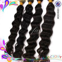 Tangle free nice looking 5A grade brazilian human hair weft