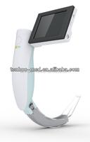 portable video laryngoscope with single use blade