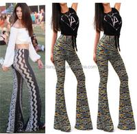 OEM Wholesale Ladies HIGH WAIST LONG FLARED WIDE LEG PALAZZO BELL BOTTOM YOGA PANTS S M L XL