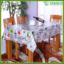 2015 newest fruits printed pattern pvc/peva embossed vinyl tablecloth