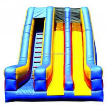 dry slide/inflatable slide/Inflatable Dry Slide 22'Dual Lane Indoor Slide with Front Exits