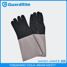 "GuardRite 18"" Black Leather Welding Gloves China Wholesale S-2012"