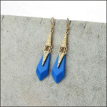 gold plated jewelry set fashion wholesale jewelry fingernail earring posts