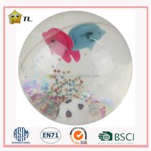 7.5cm LED Flashing glitter bounce water ball Ocean series