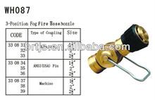 3- posición de fuego niebla boquilla de la manguera