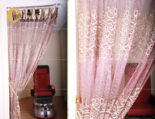 modern nest yarn jacquard salon decorating curtain