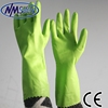 NMSAFETY green PVC dipped long safety gloves pvc safety gloves manufacturer