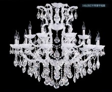 18 Arms Modern Chandelier White Crystal Light with 3 Year Warranty and CE UL CCVN8243