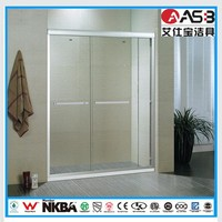 wc room 8mm Tempered Glass with frame bath shower screens