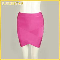 women apparel sexy mature asymmetrical strap bandage skirt