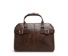 high quality genuine leather mens business bag briefcase