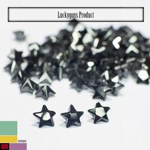 Chinese Manufacturer natural black zircon Star Shape Zircon