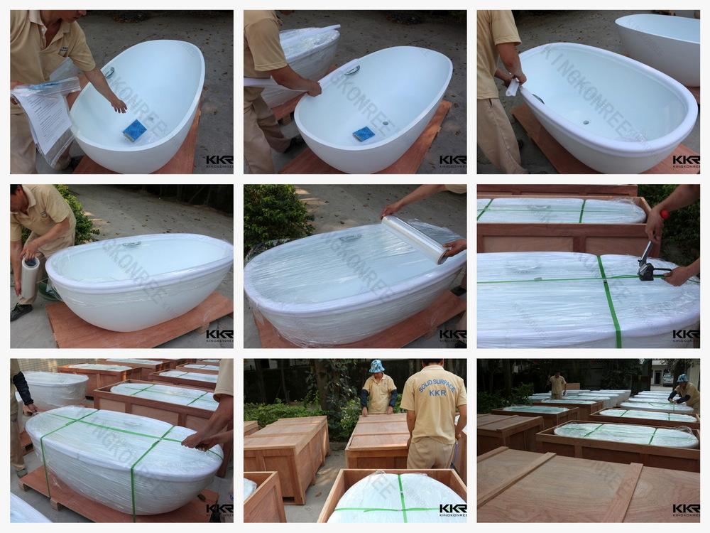 Salle de bain int rieure trempage baignoire r sine - Resine pour baignoire ...
